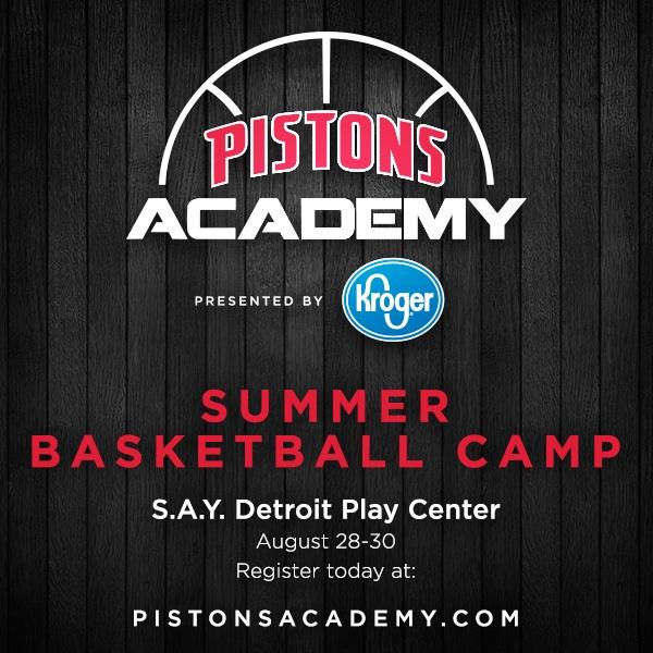 Pistons Academy Summer Basketball Camp   SAY Play Center
