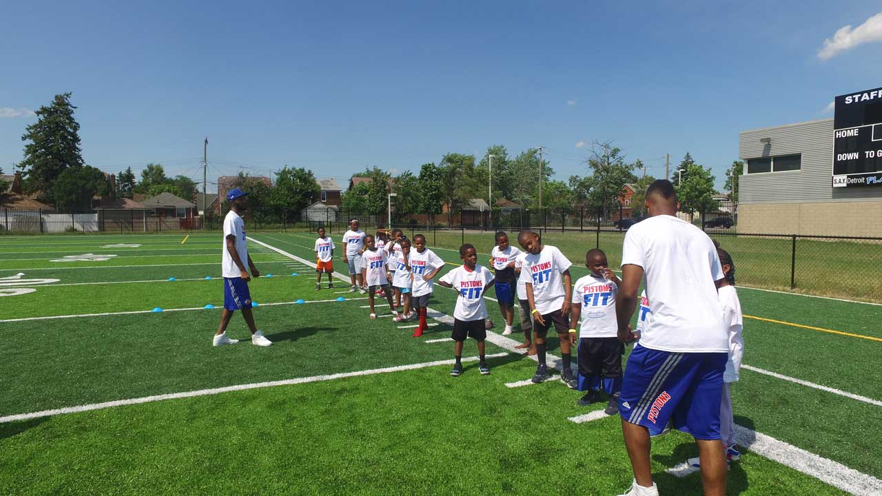 Saturday's Pistons Health Fit Clinic a Huge Hit! | SAY Play Center