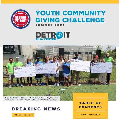 Detroit Pistons Youth Community Giving Challenge Reflections
