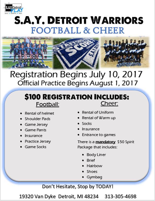 Football & Cheer Practice Begins | SAY Play Center