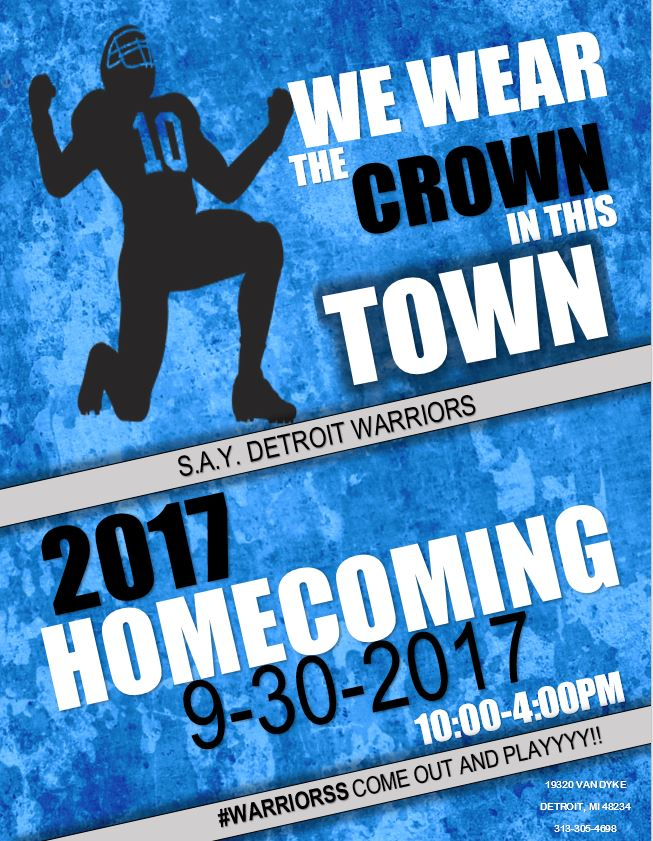 Warriors Homecoming Game | SAY Play Center