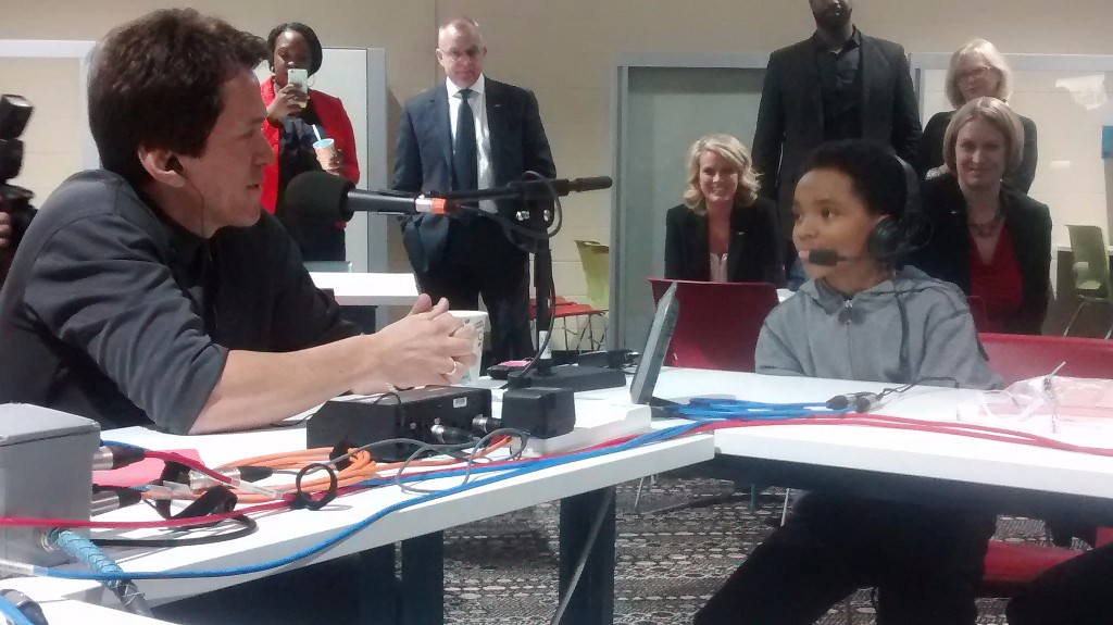 Mitch Albom interviews David Williams live on his radio show on WJR 760 am from the Deep.