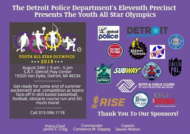 Detroit Police Department's 11th Precinct Youth All Star Olympic Games | SAY Play Center