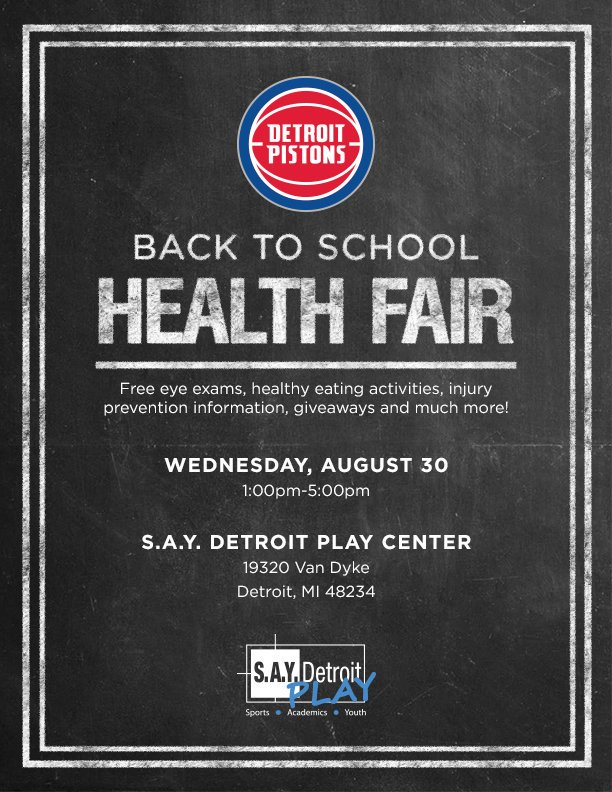 FREE Back-to-School Health Fair on August 30 | SAY Play Center