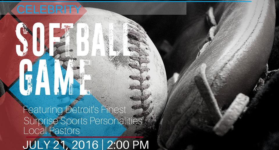 SAY Detroit Play Center Joel Osteen Ministries Celebrity Softball Game