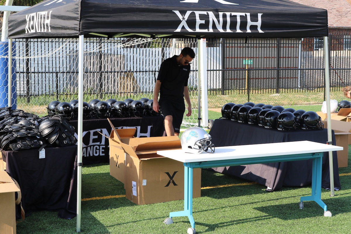 Xenith Team Visits SAY Play to Deliver New Football Gear   SAY Play Center